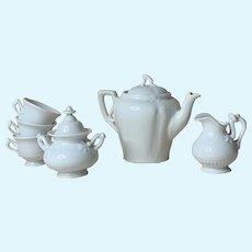 Old White Stoneware Doll Tea Set