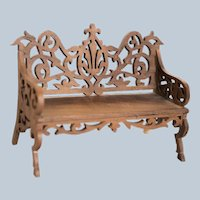 Fancy Carved Wood Settee