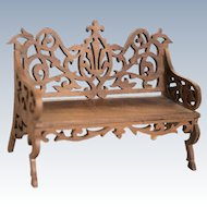 Fancy Carved Wood Settee