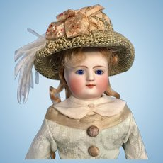 Antique Dreamy Looking Early Fashion Lady Doll by Simon & Halbig for French Market