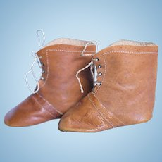 Large 3.5 inch Leather Doll Boots