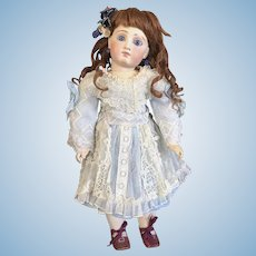 Lovely Pale Blue Netted Lace Bebe Dress