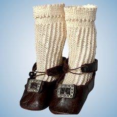 Antique Original Bru Brevete Shoes and Socks