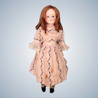 Beautiful Antique Closed Mouth German Doll made by Alt, Beck and Gottschalck