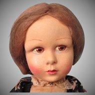 French Made by La Venus Felt Doll in Original Costume