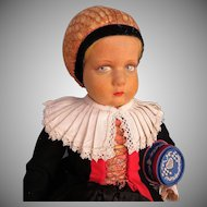Italian Felt Lenci Doll Dressed in the Regional Costume of Castelrotto, Italy