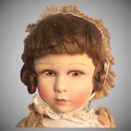 French La Venus-Raynal Molded Felt Doll Made in Paris 1930th
