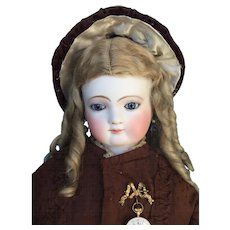 Gorgeous and Graceful French Fashion Portrait Doll by Jumeau