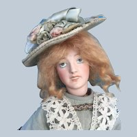 Antique French Lady Doll ca. 1914-1916 Designed by Jules Edmund Masson, made in Limoges by Lanternier.