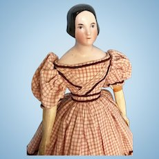 Antique China Lady with Braided Bun