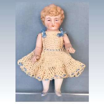 Antique All-Bisque German Doll