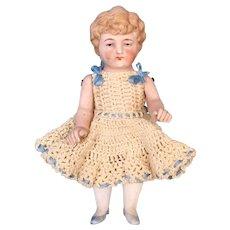 Antique All-Bisque German Doll