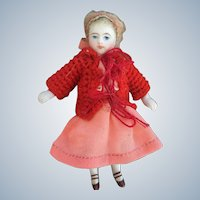 Cute All-Bisque Antique German Doll