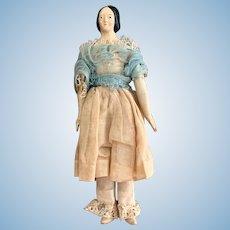 Antique All Original Papier Mache Doll