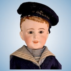 SFBJ 237 Boy in Marine Costume Flocked Hair