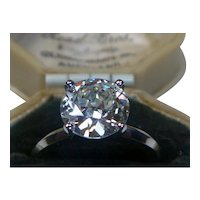 Transitional-cut 2.62 ct. Diamond Solitaire Platinum Ring