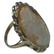 Vintage Large 14K Cameo Ring