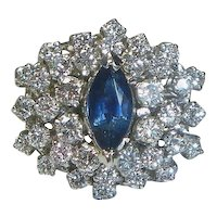 Gorgeous Cluster Ring Sapphire & Diamond