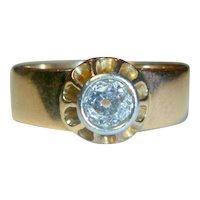 Antique Edwardian .50 Ct. Mine-cut Diamond Rose Gold Ring