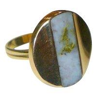Antique California Gold-in-Quartz 14K Ring