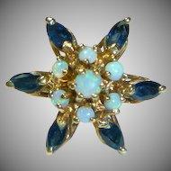 Starburst Opal, Sapphire, 14K Ring