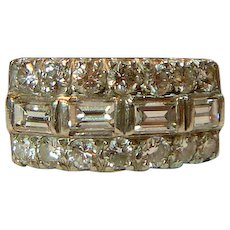 Mid-Century 2.20 Ct. Diamond Platinum Ring