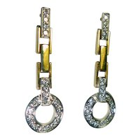 Vintage 1.06 Ct. Diamond & 18K  Earrings