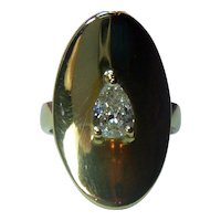 """Modernist """"Le Gi"""" 18K .65 Ct. Diamond Italian Ring"""