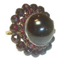 Antique Bohemian Extraordinary Garnet 14K Ring