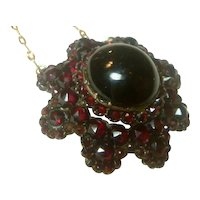 Antique Bohemian Garnet Necklace