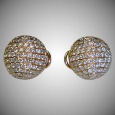 Diamond 3.66 ct Rose Gold 18K Earrings