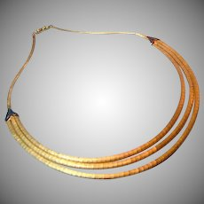 Retro 18K Gold Shreve & Co Necklace