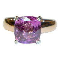 Natural Pink Sapphire 14K Rose Gold Ring