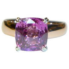 Natural Pink Sapphire 14K Rose Gold Ring