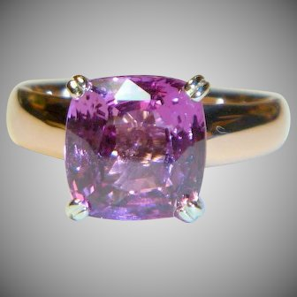 Exquisite Natural Pink 4.53 ct. Sapphire Ring
