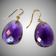 Beautiful Amethyst Gold Earrings