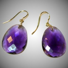 Beautiful Amethyst Gold Earrings