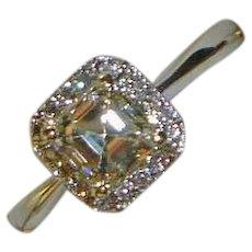 Stunning Emerald Cut Diamond 14K Ring