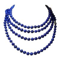 Lapis & Gold 2 Yard Necklace