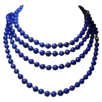 Lapis & Gold 2 Yard Necklace
