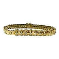 Diamond and 14k Gold Bracelet