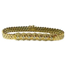 Diamond and 14k Gold Bracelet