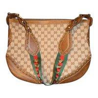 Vintage Gucci Monogram Pelham Messenger Bag
