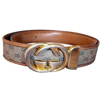 Vintage Unisex Rare Reversible Gucci Buckle & Belt