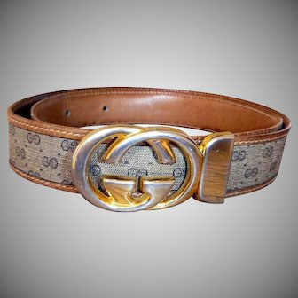 Vintage Rare Reversible Gucci Buckle & Belt