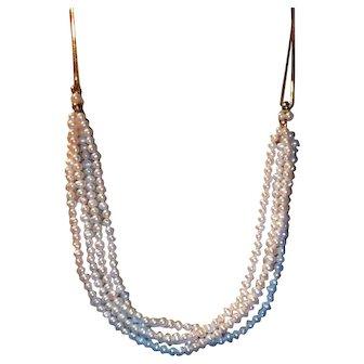 Delicate Vintage Pearl & 14K Gold Necklace