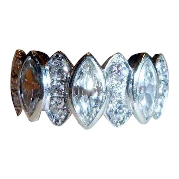 Estate 2.75 ct. Marquise and Diamond 14K Ring
