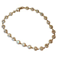 Diamond and 14k White Gold  Bracelet