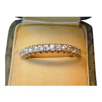 Vintage Platinum Half Eternity Diamond Ring