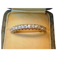 Vintage Platinum Half Eternity Diamond Ring